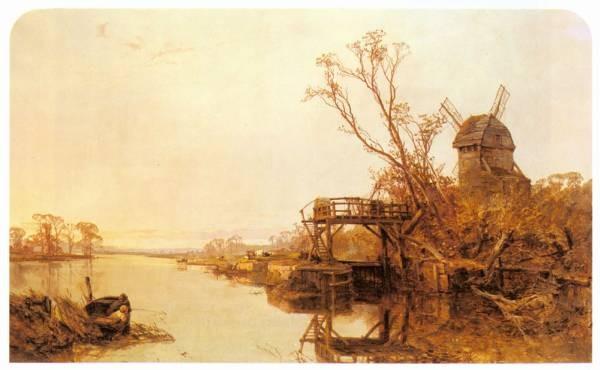 Fishing By A Windmill